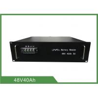 Quality Lithium Iron Phosphate Telecom Battery 48V 40Ah 3U Rack With RS 485 Communication for sale