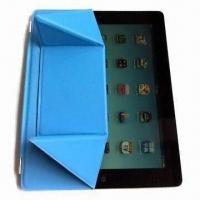 Quality Leather Case for iPad 3/iPad 2 with Engraving, Silkscreen and Hot-stamping Logo Printings for sale