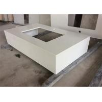 Quartz Stone Gentle White Bathroom Vanity Tops With Undermount Sink , Solid Surface Manufactures