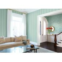 Paper Backed Washable Vinyl Wallpaper Flower Design With Green Color Manufactures