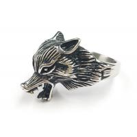 Buy cheap 316L Stainless Steel Fashion Rings Punk Fox Animal Shape Unique Design from wholesalers