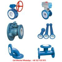 PFTE Lined Ball valve Butterfly valve check valve  stop valve Fluorine lined pipe fittings for Acid Chemical Tank Manufactures