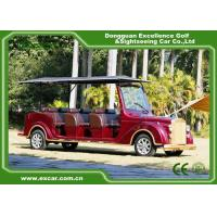 Luxurious Red G1S8 Electric Classic Cars 4 Row For 8 Passenger Manufactures