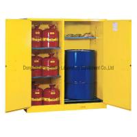 Metal Two Doors Dangerous Goods Cabinets Acid Alkali Resistant Double Wall Structure Manufactures