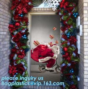 indoor & outdoor door poster PE plastic window cover for halloween christmas decoration,Door Poster Christmas Gift Decor Manufactures