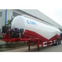 Diesel Engine Cement Bulker Trailer Optional Color With 8m3 Air Compressor Manufactures