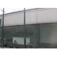 Metal Materials Green / Steel 358 Mesh Fencing 500g/M2 Zinc Coating Anti Intruder Manufactures