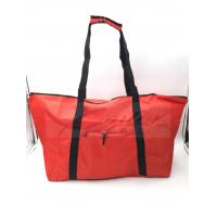 Water Resistant Reusable Folding Shopping Bags Red Color For Travel Manufactures