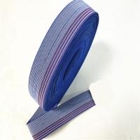 50mm Upholstery Sofa Elastic Webbing / Blue Elastic Furniture Straps Manufactures