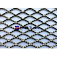 Heavy Duty Carbon Steel Expanded Metal Mesh / Architectural Metal Mesh Fabric for sale