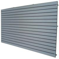 Cosmetics Shop Gray Wooden Slatwall Panel With Slots Or Grooves Manufactures