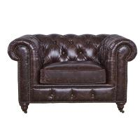 Soft High Back Chesterfield Armchair, Modern High Back Wing Chairs For Living Room