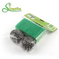Stainless Steel 410/430 Metal Scrub Pad , Kitchen Abrasive Stainless Steel Scouring Ball Manufactures