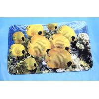 China Anti slip super absorbent mat for Kitchen / living room , Beautiful Seafish Patter on sale