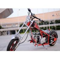 Spiderman Style 50cc Street Legal Motorcycle , Custom Harley Choppers 12V Battery 3L Tank Manufactures