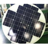 China Mono Cystral 40W Round Solar Panels , Hot Air Solar Panels Triple Layer Back Sheet on sale