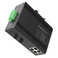 4RJ45 Small Industrial Fiber Ethernet Media Converter 10/100/1000 Mbps Manufactures