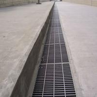 Trench Steel Grating Drain Cover For Flooring 24 - 200mm Cross Bar Pitch Manufactures