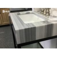 Turkey Marmaray White Marble Vanity Tops , Marble Kitchen Countertops Manufactures
