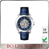Sapphire Glass Mechanical Skeleton Automatic Watch , 10 ATM Automatic Stainless Steel Watch Manufactures