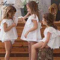 Angou Ins Baby Girls Sets Flare Sleeve Top and ruffles Pants 2pcs Toddler Clothing Sets Manufactures