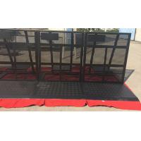 Quality Easy Install Black Crowd Safety Barriers Lightweight / Foldable For Revolt Activities for sale
