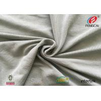 China T - Shirt Polyester Rayon Spandex Fabric , Gray Swimsuit Spandex Fabric on sale