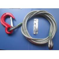 China Portable 9.5mm Coated Galvanized Steel Heavy Sling Wire Rope For Cargo Boat on sale
