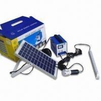 Small Solar Power System, Provides Power for Lighting and Entertainment in Remote Area