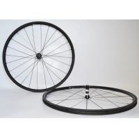 Stabilized Structure Carbon Tubeless Road Wheels , Road Bike Race Wheels 23mm Rim Width Manufactures
