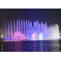Customized City Landscape Outdoor Rock Water Fountains With Beautiful Lights Manufactures