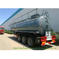 Heavy Duty Chemical Tank Trailers For 30 - 45MT Sodium Hydroxide Transportation Manufactures