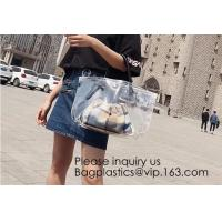 Women Clear Shopping Bag Transparent PVC Beach Bag Large Capacity Foldable