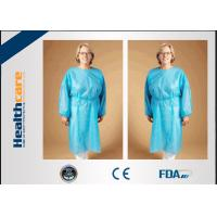 Quality Safety Disposable Surgical Gowns / Medical Isolation Gowns Free Sample 35/40/45Gsm for sale