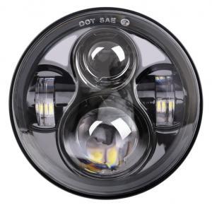 "Energy Saving 80 W Round Jeep Wrangler Jk Led Headlights , 7"" Moto Led Projector Headlamps Manufactures"