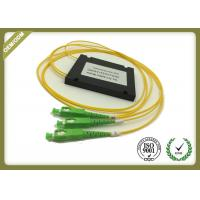 Fiber Optic 1x2 PLC Splitter With SC / APC Connector Low PDL High Stability Manufactures