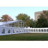 Strong Frame Heavy Duty Tents For Camping , Clear Roof Wedding Tent With 300 Person Seat Manufactures