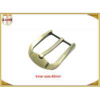 Fashion Gold Zinc Alloy Pin Belt Buckle For Man / Boy 40mm Customized Manufactures