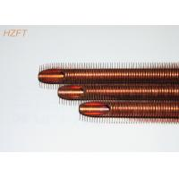 Heat Transferring Copper Finned Tube Flexible for Coaxial Evaporators 10.2mm Inner Dia Manufactures