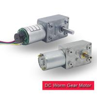 China 120 rpm Worm Gear Motor 12v High Torque Customized With 12 Ppr / 16 Ppr Encoder on sale