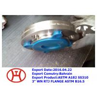 China ASTM A182 SS310 3 WN RTJ FLANGE ASTM B16.5 on sale