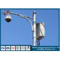 Road Street Cctv Camera Pole , Traffic Light Steel Hot Dip Galvanized Pole Manufactures