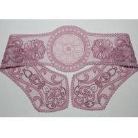 Purple Lace Collar Applique Floral Embroidered Tulle Mesh Trim For Neckline Manufactures