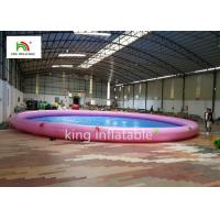 18m Diameter Round Inflatable Swimming Pools With Animal Printing PVC Manufactures