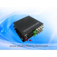 4CH HDTVI video audio fiber converter with black aluminum case Manufactures