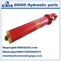 Multi Stage Metallurgy Hydraulic Oil Cylinder Foot Mounting Long Stroke , Telescopic Manufactures