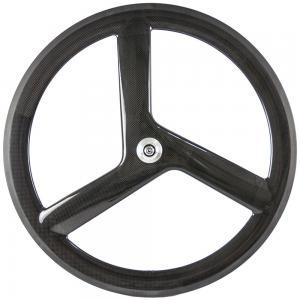 55mm Depth Tri Spoke Front Track Bicycle Wheels EN - 14766 Valve 6.5mm Manufactures
