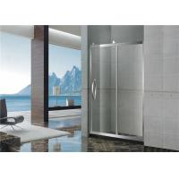 With Frame Inline Bathroom Glass Shower Screen 304 Stainless Sliding Steel Moving Door Manufactures