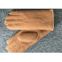 China Sheepskin Leather Winter Finger Gloves , Genuine Sheepskin Extreme Cold Weather Gloves on sale