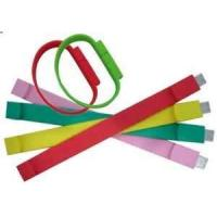 CE, ROHS Colorful USB Silicone wristbands, thick silicone bracelets for girl